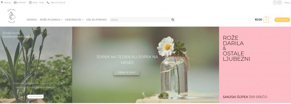prodaja na spletu cvetje